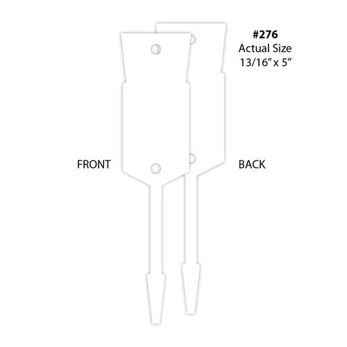 Large Arrow ID Tags- Blank (VT-#276)