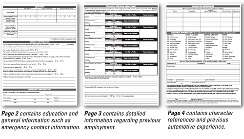 Application for Employment (Form #EMP-1)
