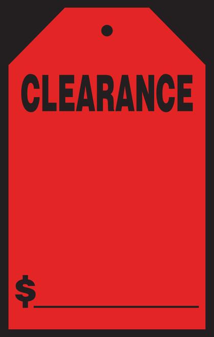 "Clearance Windshield Tag  (#589-31/33) 7"" x 11"""