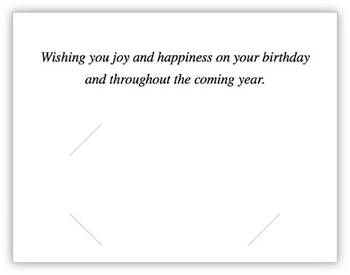 Happy Birthday Card (With Envelopes) (CB-HappyBirthday)