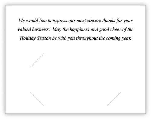 Happy Holidays Card (With Envelopes)  (CB-HappyHolidays)