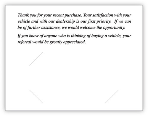 Thank You Card (With Envelopes (CB-ThankYou-NightDrive)