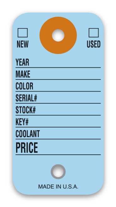 Colored Key Tags (Form-#1490)