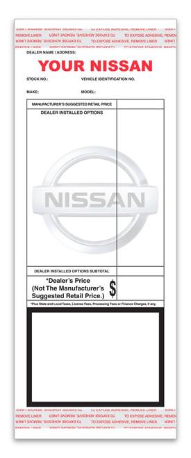 Custom Addendum Sticker (Two Color) 4.25' x11' (Form-#8259-2)