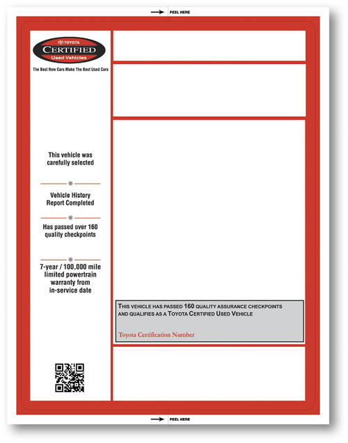 Custom Laser Window Stickers (Two Color) 8.5' x 11' (Form-#8305)