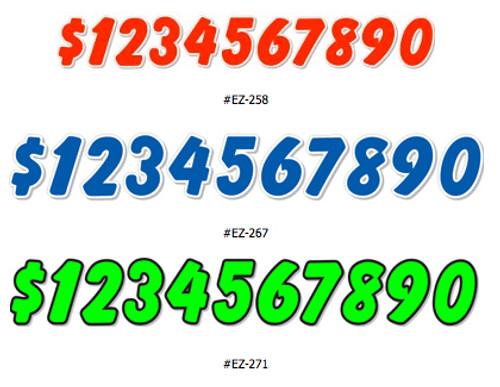 Die Cut Numbers EZ- #258/267/271