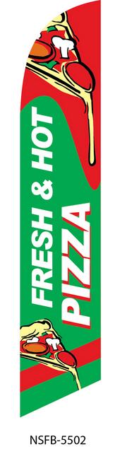 Fresh Hot Pizza Swooper Flag NSFB-5502