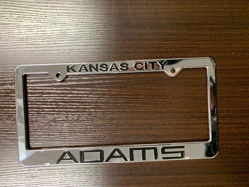Full Chrome Plastic License Plate Frames