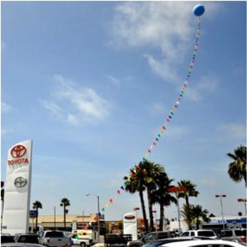 Giant Latex Balloon/BRITE Pennant Combo