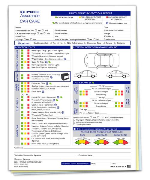Hyundai Multi-Point Inspection  (Form-#7285-0416)