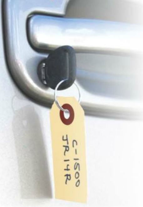 Manila Key Tags with Ring Separate
