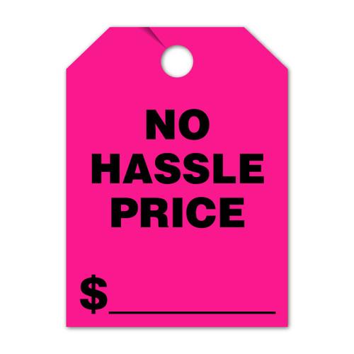 No Hassle Price Mirror Hang Tag 8.5 X 11.5