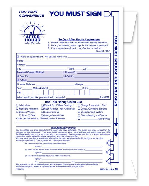 Multi-Option Night Drop Envelope PLAIN  #NDE-Multi