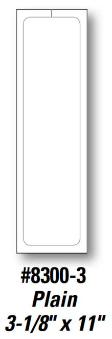 Plain Stock Addendum Sticker  3 1/8' x 11' Form- #8300-3