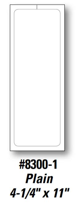 Plain Stock Addendum Sticker 4.25' x 11' Form-#8300-1