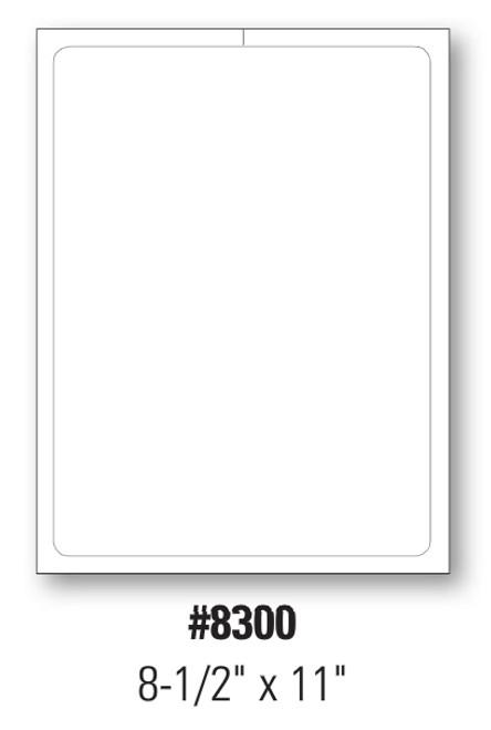 Plain Stock Addendum Sticker  8 1/2' x 11' Form-#8300