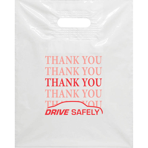 "Plastic Patch Handle Bags 12"" x 15"""
