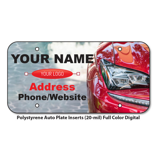 Polystyrene Auto Plate Inserts (20-mil) Four Color Digital<