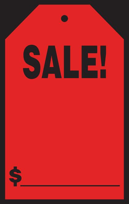 """Sale Windshield Tag (#589-61/63) 7"""" x 11"""""""