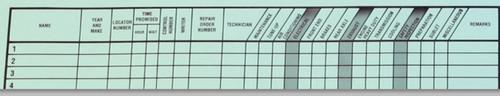 Big Green Route Sheet Form #Big Green R/S