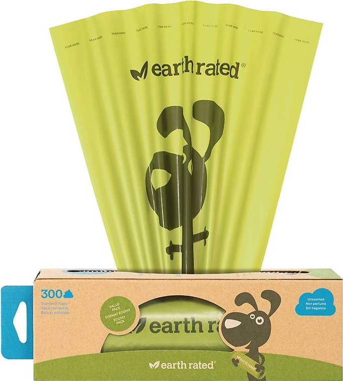 EARTH RATED POOP BAGS 300PK UNSCENTED
