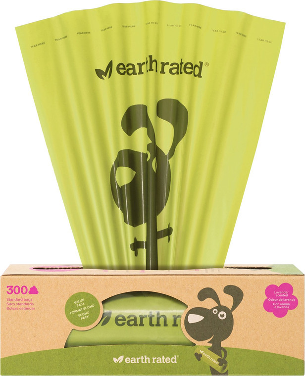 EARTH RATED POOPBAGS 300PK SCENTED