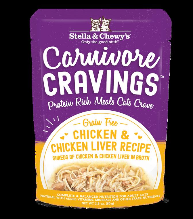 S&C CARNIVORE CRAVINGS CHK & CHK LIVER 2.8OZ CASE