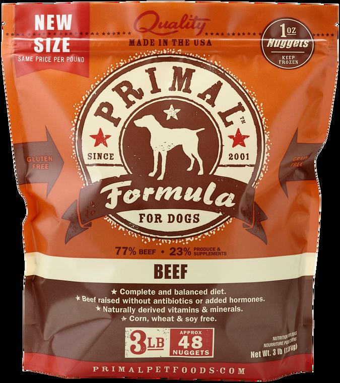 PRIMAL FROZEN RAW BEEF 3#