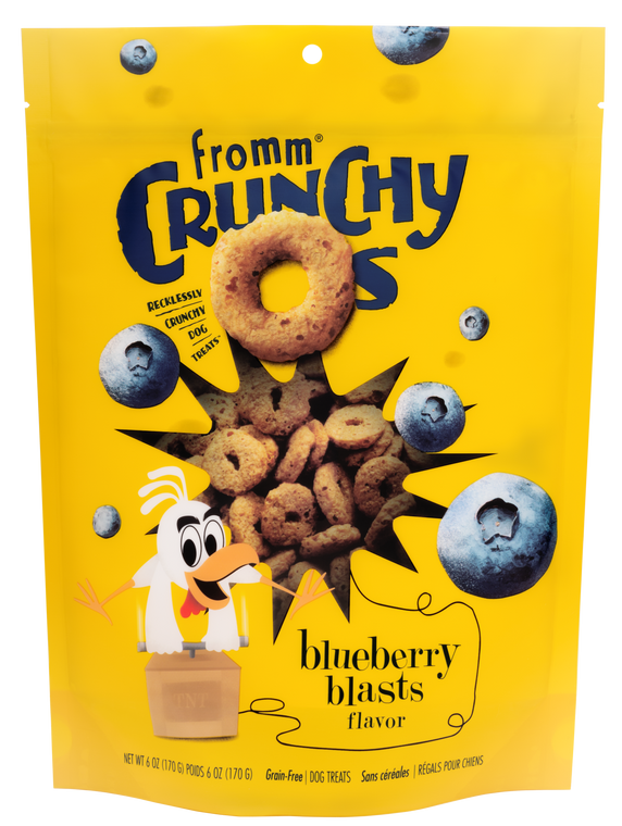 FROMM CRUNCHY O'S BLUEBERRY 6OZ