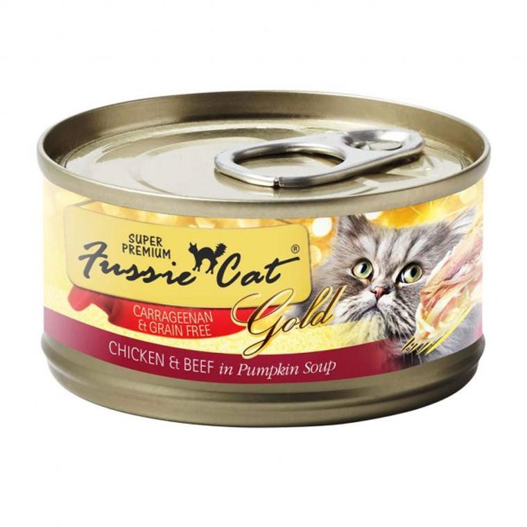 FUSSIE CAT CHK/BEEF/PUMPKIN 2.8OZ SINGLE