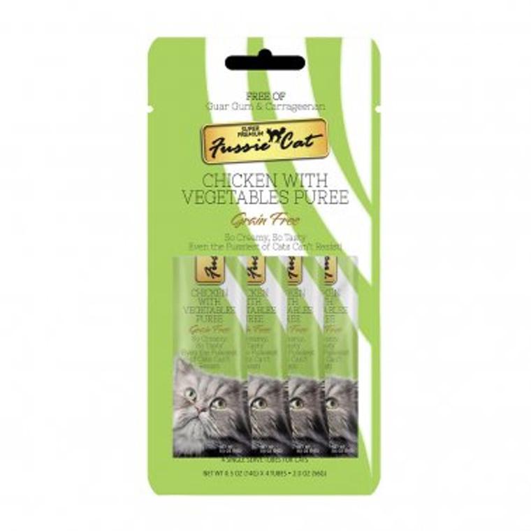 FUSSIE CAT PUREE CHK/VEG SINGLE TUBE