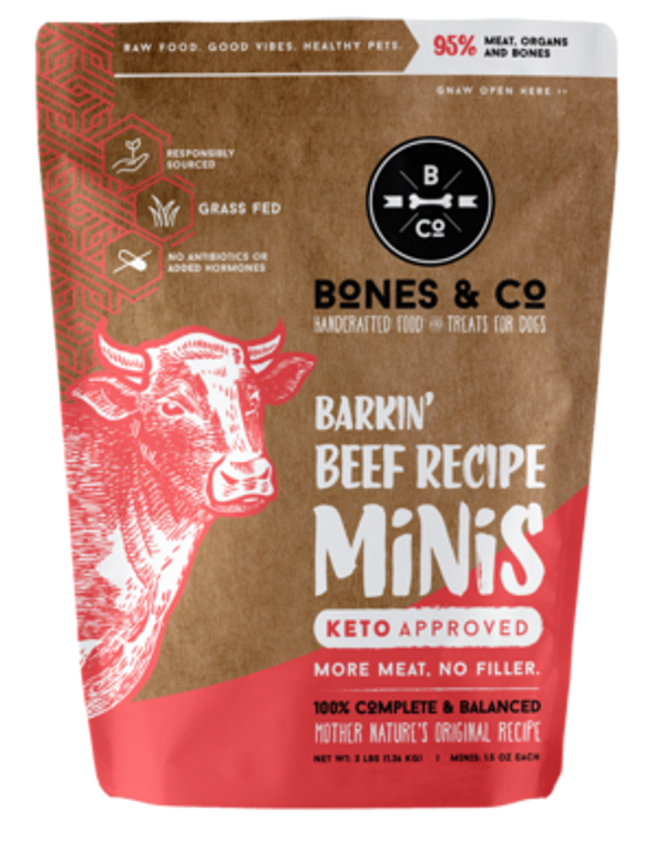 BONES & CO FROZEN BEEF MINIS 3LB