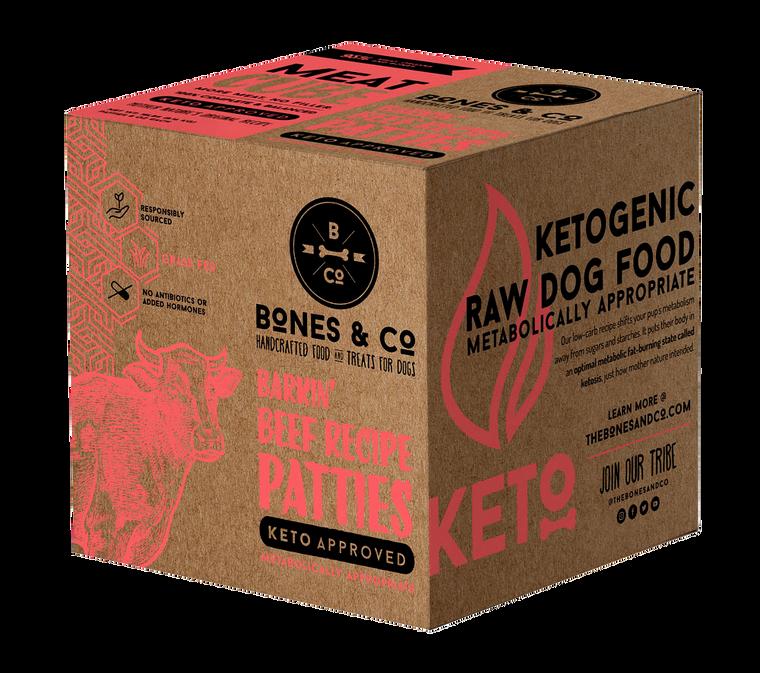 BONES & CO FROZEN BEEF PATIES 18#
