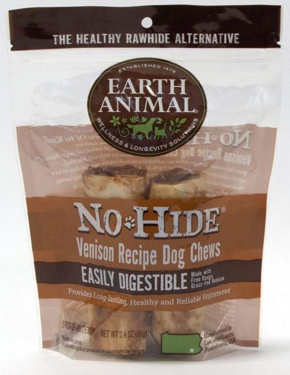 EARTH ANIMAL NO HIDE VENISON CHEWS 4''2 PACK
