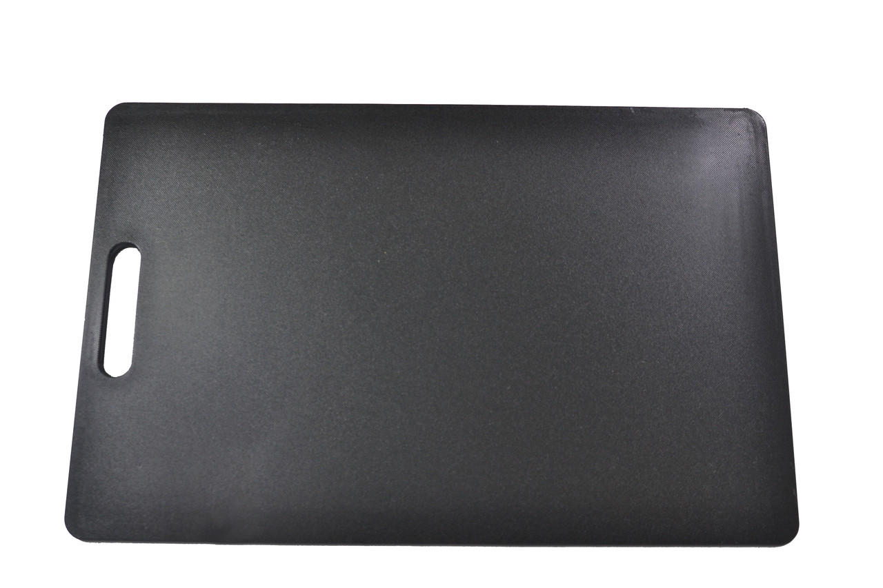 Chef Inox Black Polypropylene Cutting Board With Handle – 300x450x12mm (Allergies)