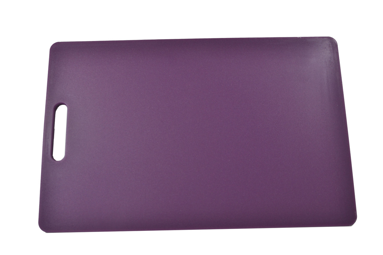 Chef Inox Purple Polypropylene Cutting Board With Handle – 300x450x12mm (Allergies)