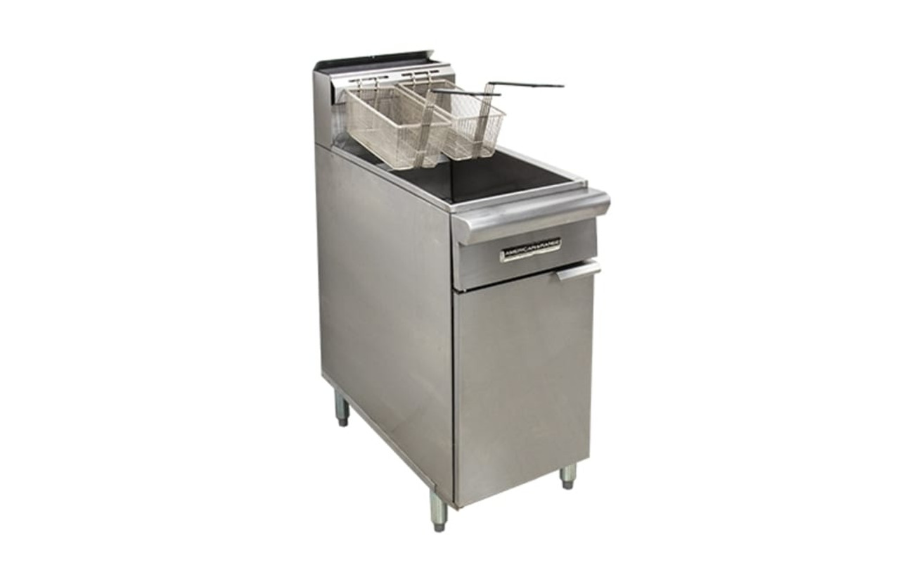 American Range AAF.45W Three Tube Burner Gas Fryer
