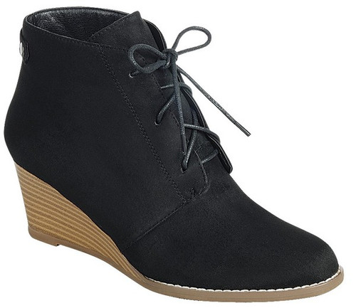 SUEDE LACE UP ANKLE BOOTIE