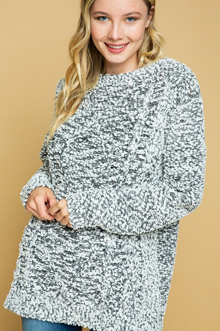 Plus Size Soft Popcorn Loose Fit Sweater