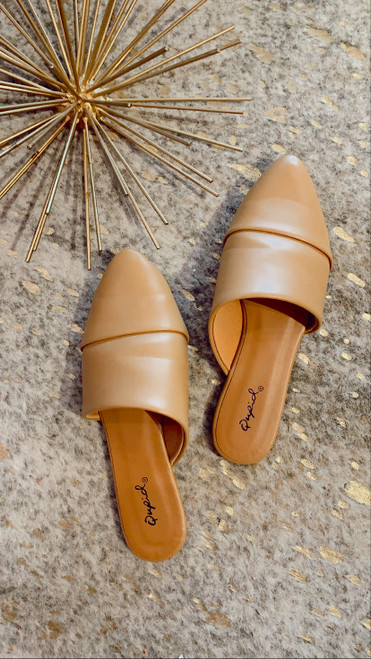 POINTY LOW HEEL MULES