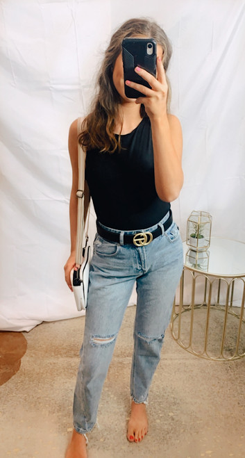 Twisted Seam Mom Jeans