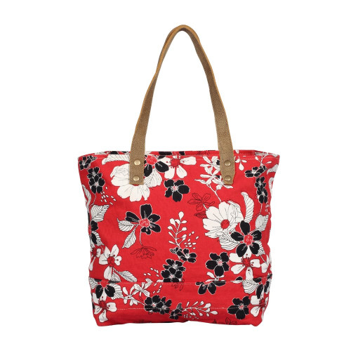 CORAL FLOWER TOTE B AG