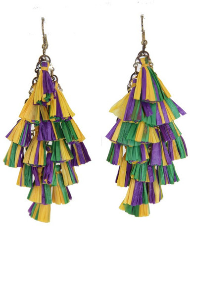 Multi Mini Tassels Cluster Hook Earrings