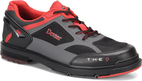 Dexter THE 9 Mens Bowling Shoes - Black/Red/Grey