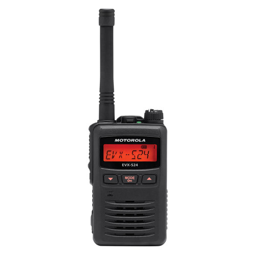 EVX-S24 Portable Digital Two-Way Radio | Black