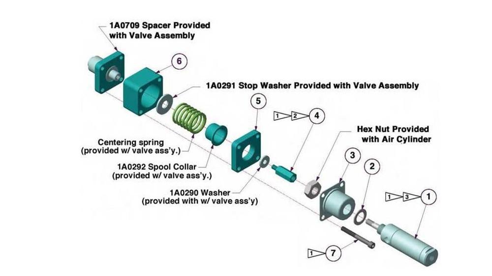 1V3604 - BA Valve Air Actuator Kit