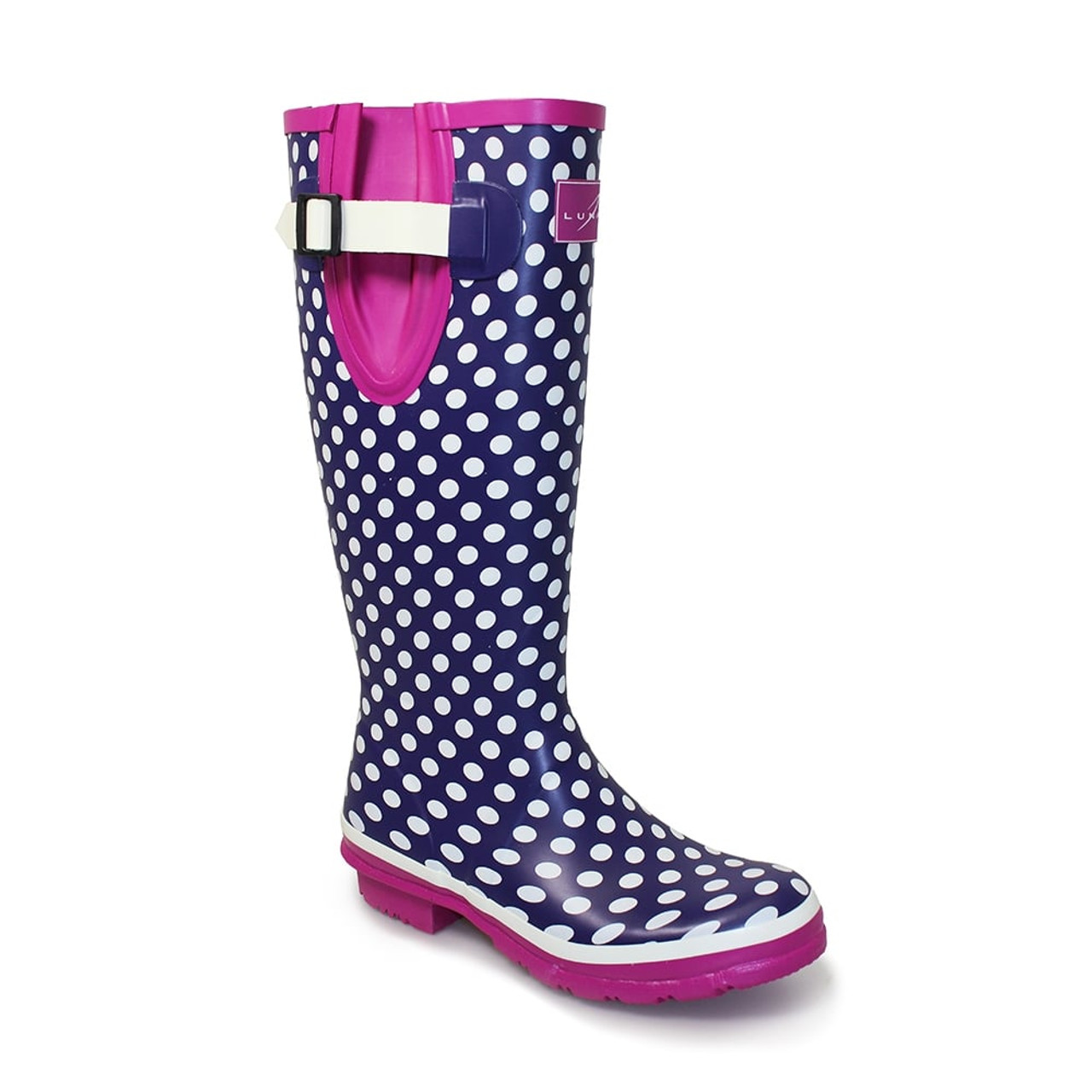 Wellington Boot Ladies Spotty Short Wellies