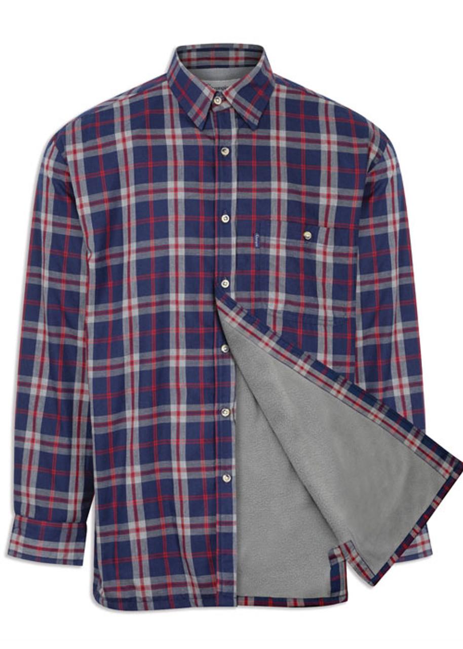 Mens Champion Country Check Long Sleeve Cartmel Fleece Lined Shirt Hunting