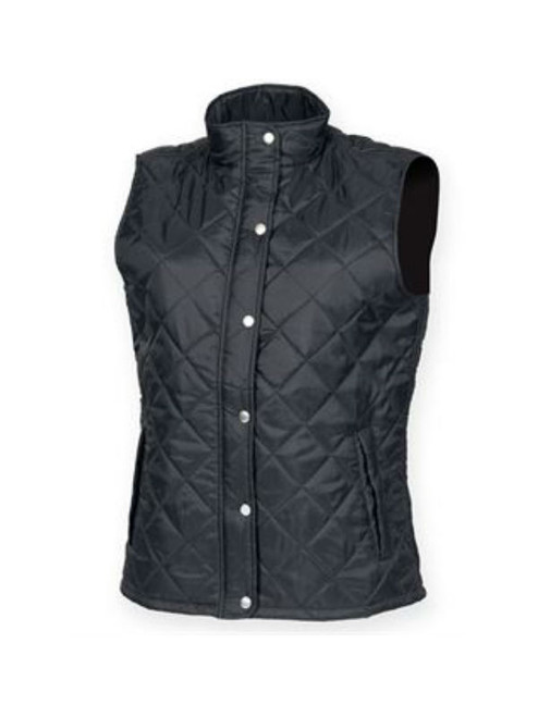 Womens Diamond Quilted Gilet