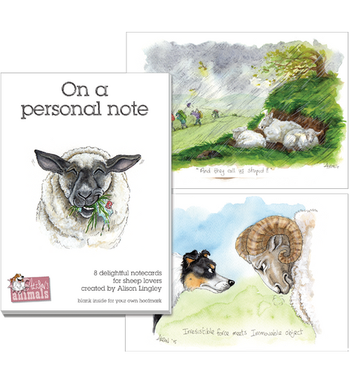Alison's Animals Notecard Gift Wallets - Sheep Designs